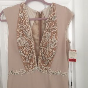 Terani couture beige long gown size 12